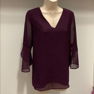 Calvin Klein eggplant purple blouse